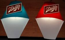 2 1960s Vtg Schlitz Beer Mid Century Modern Buoy Nautical Fishing Lighted Signs