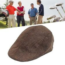 Cabbie Newsboy Cap Plaid Ivy Hat Golf Driving Summer Sun Flat Vintage Coffee WT