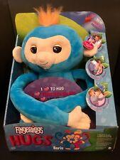 NEW WowWee BORIS Authentic Fingerlings Baby Plush Monkey HUGS Softies