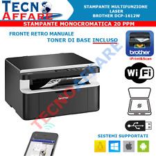 Stampante Wireless Laser Multifunzione Monocromatica 20 PPM Brother DCP-1612W