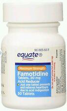 Equate Acid Reducer, Maximum Strength Famotidine 20 mg 50 ct, Exp Date 11/17+