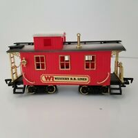 New Bright Train Red Caboose Western RR Lines Railroad Car G Scale Gauge 1986