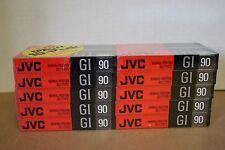 JVC GI 90 Audio Cassette Tape Normal Position  Lot of 10 Brand New Sealed Blank