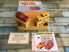 Coffret Collector Dinky Toys Atlas Renault 4 4L de Légende Poste Pompiers 1/43