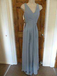 Pretty light blue chiffon evening dress from JJ`s House size 8