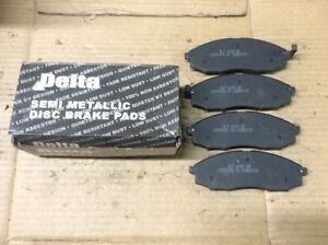 New Delta Semi Metallic Disc Brake Pad Front 762-D830 - Fits 00-01 Nissan Xterra