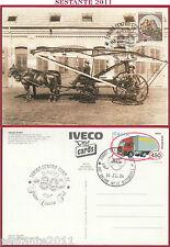 ITALIA MAXIMUM MAXI CARD PRIMO CAMION FIAT TRUCK STORY 1983 ANNULLO TORINO C261