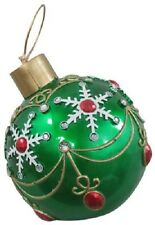 "(1)  NEW 17"" GREEN OVERSIZED CHRISTMAS ORNAMENT 17094XT BY RESON 195259"
