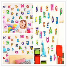 26Animal Alphabet Wall decal Removable stickers educational decor kid nursery T4