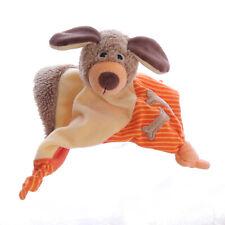Sterntaler Hund Dix orange mit Knochen Schmusetuch Kuscheltuch Plüsch 15cm klein