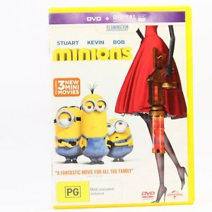 Minions (DVD, 2015) Steve Carell R4 Movie Good Condition Free Tracked Post