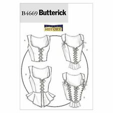 Butterick Sewing Pattern 4669 Misses Corset History Size 6-12