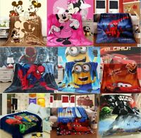 Disney Mickey Minnie Pixar Cars McQueen Minions Spider man Flannel Blanket Throw