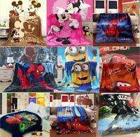 Disney Mickey Minnie Pixar Cars McQueen Minions Spider man Flannel Blanket Throw