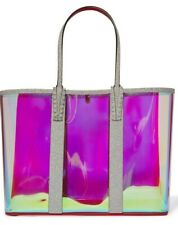 Christian Louboutin Cabata PVC Iridescent AB Glitter Sunset Tote Shoulder Bag