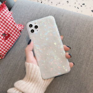 For iPhone 12 11 Pro Max XS XR X 8 7 Plus Soft Crystal Shell Silicone Case Cover