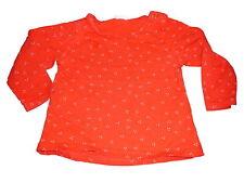H & M tolles Langarm Shirt Gr. 68 rot mit rosa Punkten !!