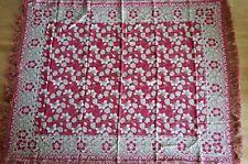 """Antique Vtg Arts & Crafts Nouveau Era Large Tablecloth Textile 56"""" X 74"""""""
