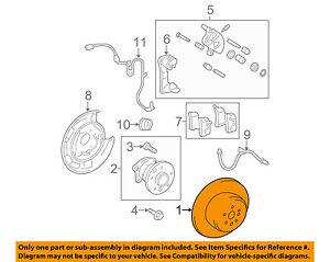 TOYOTA OEM Rear Brake-Rotor 4243148041