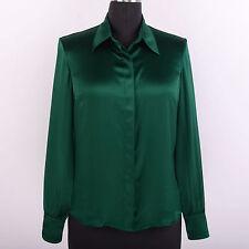 Damen 22 Momme 100% Seide Damenbluse Damen Bluse Hemd Business Langarm Tops