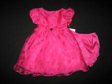 "NEW ""FUSHIA CHIFFON GARDEN"" Dress Baby Girls 6-9m Spring Summer Clothes Boutique"