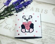 Cute 3D Googley Eyes Panda Thank you Handmade Card for Men & Women