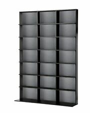 7 Shelf Dvd Cd Storage Media Tower Movie Video Rack Cabinet Unit Home New