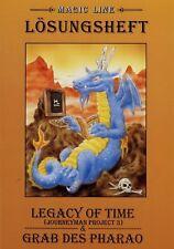 Lösungsheft Computerspiel Legacy of Time / Grab des Pharao 1998 PC Konsolenspiel