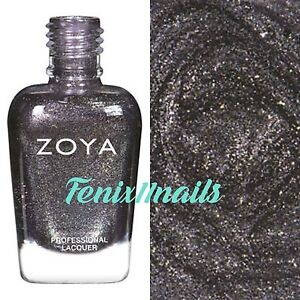 ZOYA ZP864 TROY pewter grey metallic nail polish URBAN GRUNGE Collection New