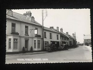 SCHOOL STREET RISING SUN PUB SIDFORD nr Sidmouth - Real Photo Postcard unused