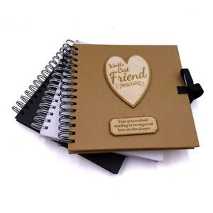 Personalised Best Friend Scrapbook Photo album Wooden Engraving Various Colours