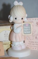"""PRECIOUS MOMENTS 520861 """" SHARING BEGINS IN THE HEART """" 1988 + FREE SHIPPING"""
