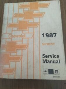 1987 Chevrolet Sprint Service Manual