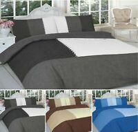 Luxuries SUEDE PATCH Printed Reversable Duvet Cover+Pillow Case Bedding Set Nz