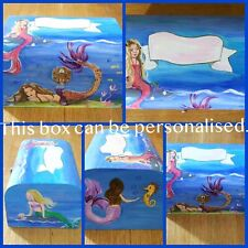 Personalised Wooden Hand painted Treasure Chest Box