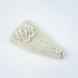 Winter Women Knit Crochet Flower Headband Hairband Headpiece Ear Warmer Headwrap