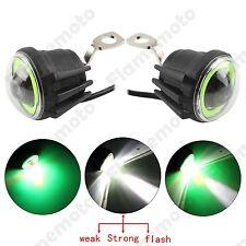 Motorcycle Bike LED Flash Angel Eye Ring Fog Running Light Lamp Mirror Mount 12V