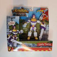 Little Tikes Kingdom Builders Lady Twist Action Figure Multicolour
