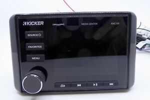 Kicker Marine Audio Media Center Receiver KMC100 USB Bluetooth Sirius LCD Displa