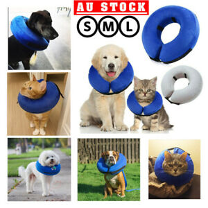 AU Inflatable Dog Puppy Cat Pet Collar Post Surgery Lampshade Cone Neck Injury