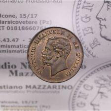 5 Centesimi 1861 Valore Milano (Regno Italia VE II) qFDC-FDC p.Rosso LOT2161