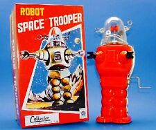 Space Trooper Red Tin Toy Great Gift Item And Collectors Item For Age 13 And Up