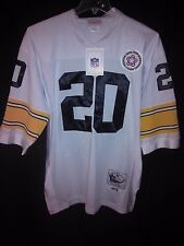 Pittsburgh Steelers Rocky Bleier Sz48 Mitchell & Ness Authentic White Jersey NWT