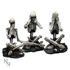 Nemesis Now See No, Hear No, Speak No Evil Skeletons Set Ornament Gothic 3x8.5cm