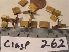 6 Vtg Solder On Clasp 3 male 3 female Insert & Tongue Jewelry Bracelet Findings