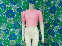 Q20 Vintage 1950's Pink Top Rockabilly Size 8