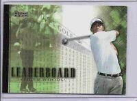 Tiger Woods 2001 Upper Deck Leaderboard Golf Card Rc Rookie