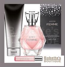 AVON FEMME pour Elle Lot de 3 Produits : Eau de Parfum + Crème Corps + Vapo Sac