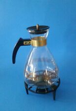 Vintage Pyrex Coffee Carafe With 36CW Warming Rack.