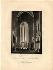 Stampa antica SALISBURGO SALZBURG Chiesa 1850 Old antique print Engraving